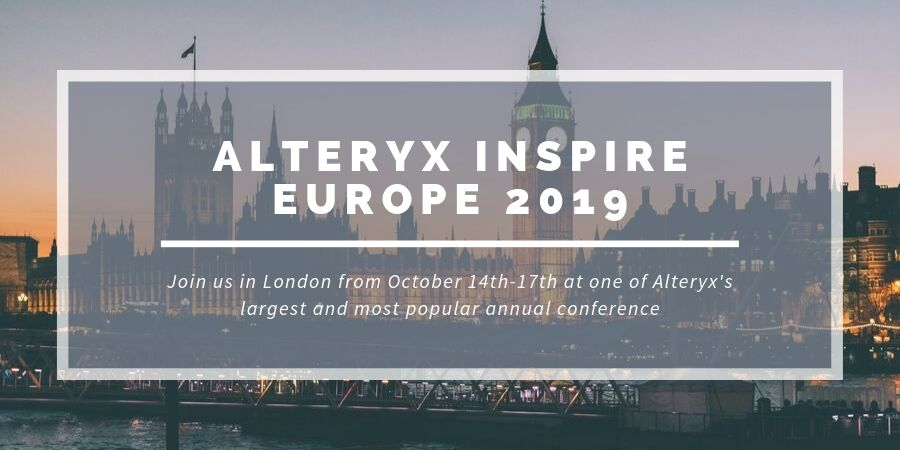 Alteryx Inspire Europe 2019 Blog Banner