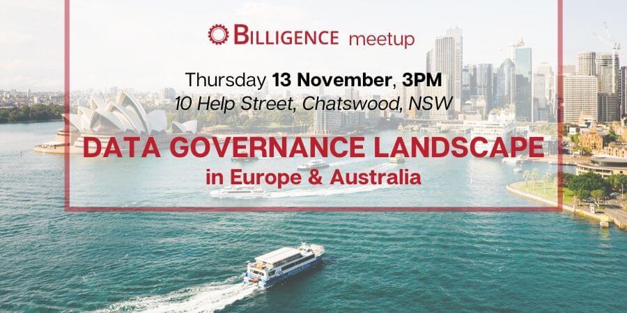 Billigence Data Governance Event Banner - Sydney