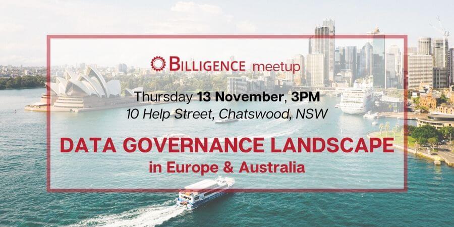 Billigence Data Governance event - Sydney