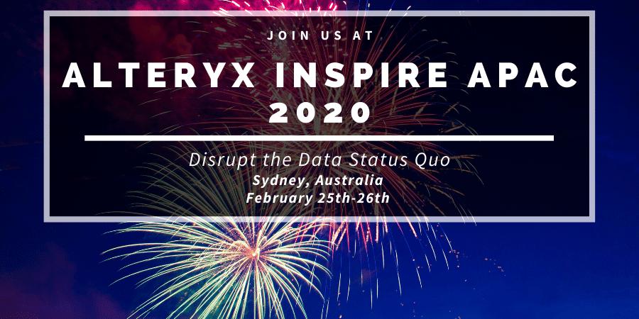 Alteryx Inspire APAC 2020 Events Banner