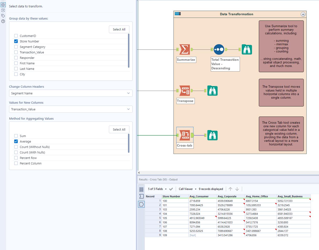 Data Transformation with Alteryx
