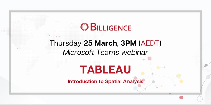 Tableau Introduction to Spatial Analytics