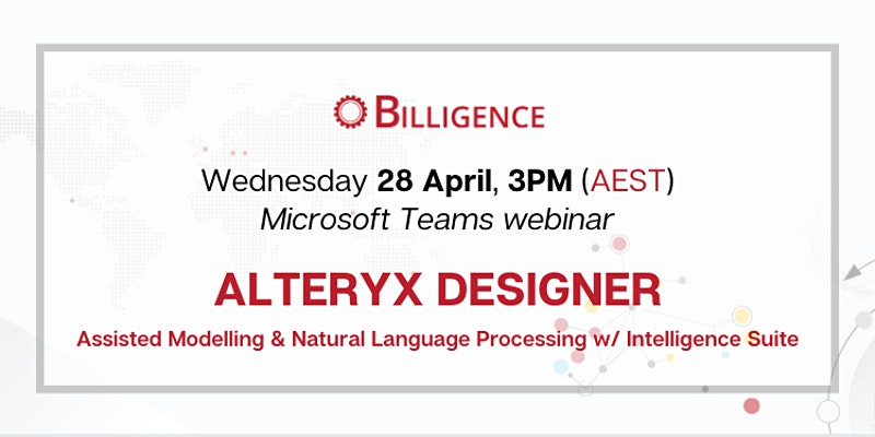 Alteryx Webinar Q2 2021 Aus+Other