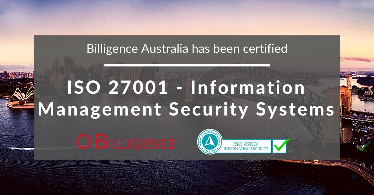 Billigence ISO 27001 Certification